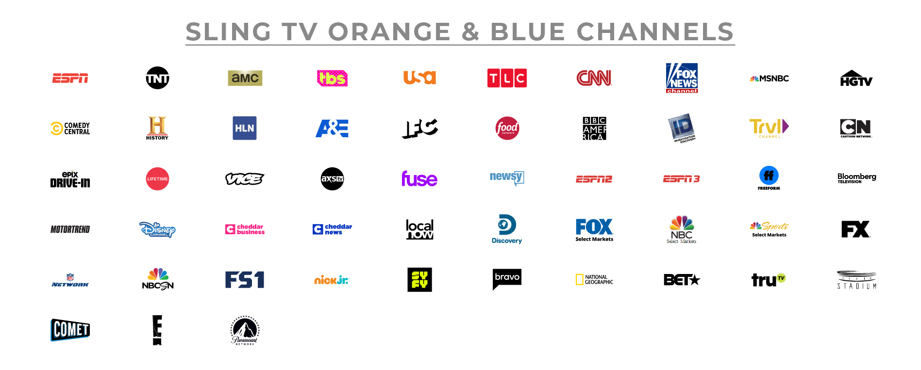 Sling TV Blue Plan Price and Channels